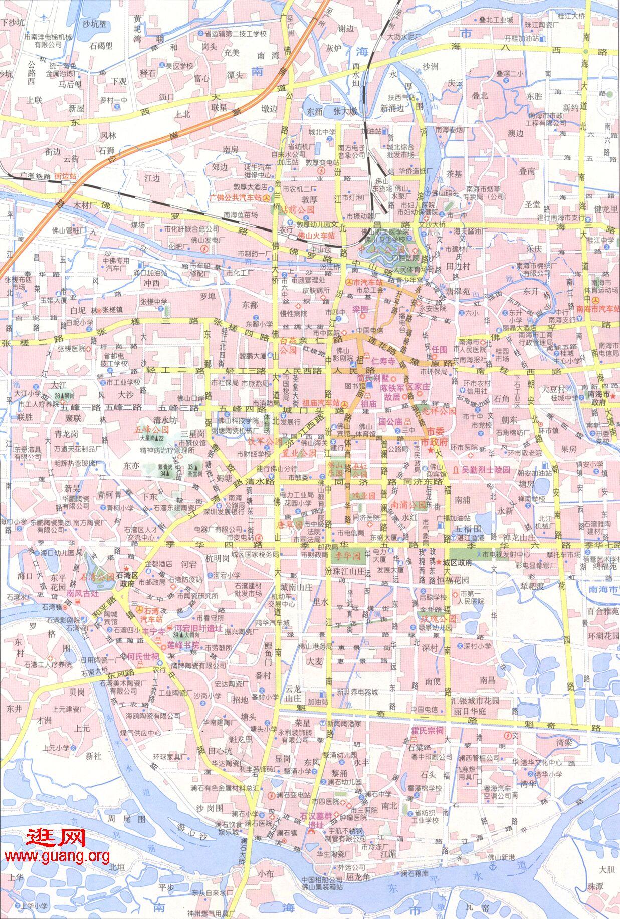 foshan佛山地图图片
