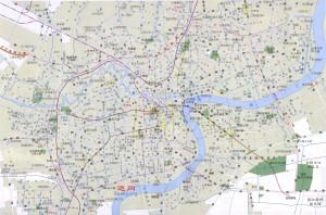 上海中心城区图