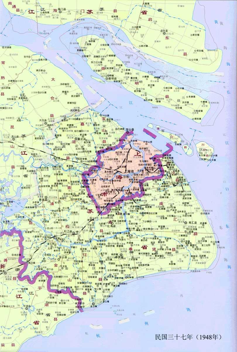 民国上海市——民国三十七年(1948年)上海地图