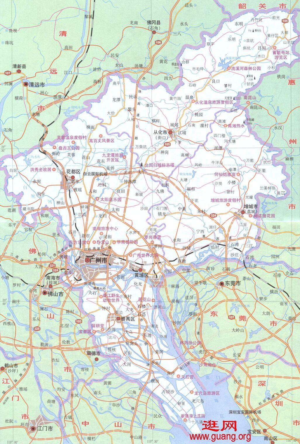 Guangzhou 2广州地图市区地图全图 点滴之间 聚沙成金